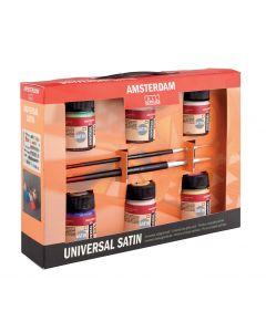Amsterdam Deco Universal 6 x 16ml Satin Paint Set