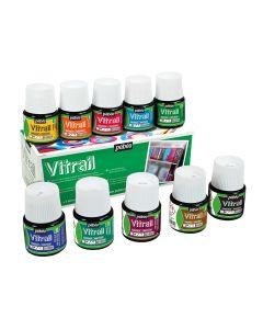 Pebeo Vitrail Glass Paint Assorted 10 x 45ml Box Set