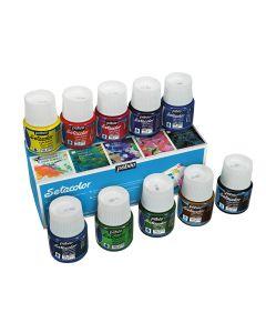 Pebeo Setacolor Light Fabric Paint Assorted 10 x 45ml Box Set