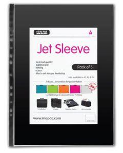 Mapac Jet Clear Portfolio Sleeves (Packs of 5)