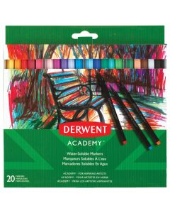Derwent Academy Water-Soluble Markers Set of 20