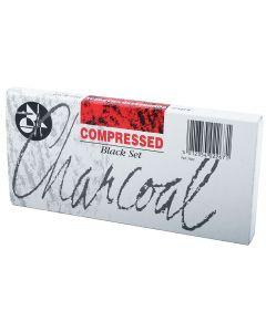Jakar Compressed Charcoal Black Set 12 Sticks