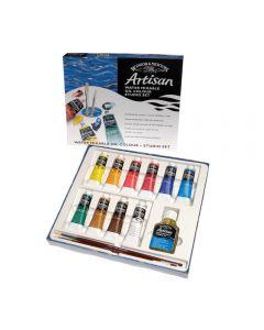 Winsor & Newton Artisan Water Mixable Oil 14 Piece Studio Set