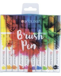 Talens Ecoline Watercolour Brush Pen Set of 10
