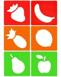Major Brushes Washable Fruit Stencils Pack of 6