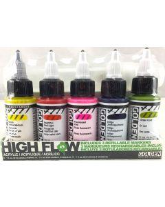Golden High Flow Acrylic Marker Set 5 x 30ml