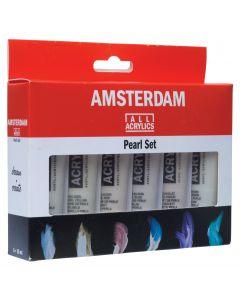 Amsterdam Acrylic Paint Pearl Colours Set 6 x 20ml