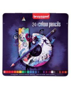 Bruynzeel 24 Colour Pencils Tin Set
