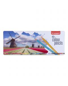 Bruynzeel Tin Set of 45 Colour Pencils