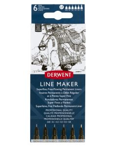 Derwent Line Maker Black Set of 6