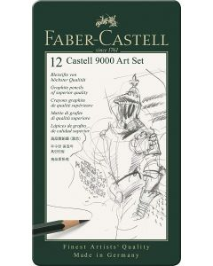 Faber-Castell 12 Castell 9000 Series Graphite Pencil Tin