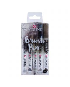 Ecoline Watercolour Brush Pens Grey Set of 5