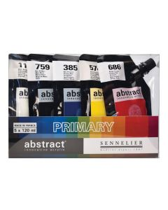 Sennelier Abstract Acrylic Primary Colours Set 5 x 120ml