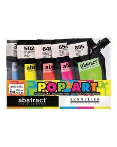 Sennelier Abstract Acrylic Pop Art Neon Colours Set 5 x 120ml
