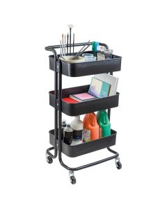Metal 3 Tier Art & Craft Storage Trolley