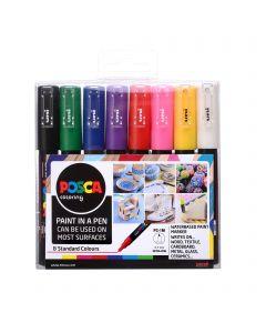 Uni POSCA Markers PC-1M Set of 8 Standard Colours