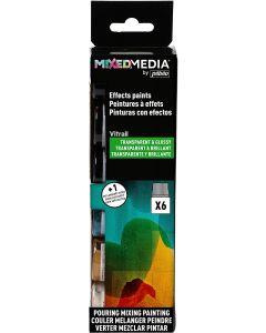 Pebeo MIXED MEDIA Vitrail Discovery Set 6 x 20ml