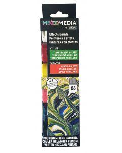 Pebeo MIXED MEDIA Vitrail & Ceramic Discovery Set 6 x 20ml