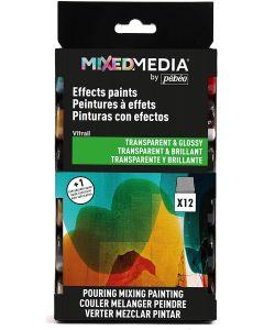Pebeo MIXED MEDIA Vitrail Discovery Set 12 x 20ml