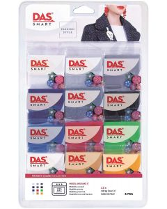 DAS Smart Fashion Style Primary Colours Polymer Clay Set of 12