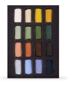 Unison Soft Pastels Landscape Half Stick 16 Colour Set