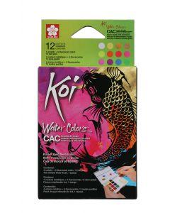 Sakura Koi Creative Art Watercolours Pocket Field Sketch Box 12 Colours
