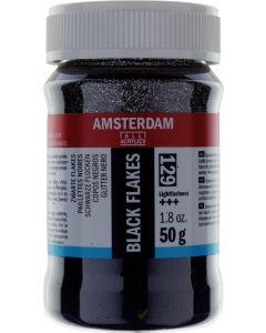 Amsterdam Black Glitter Flakes 50g