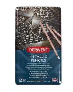 Derwent Metallic Pencils 12 Tin