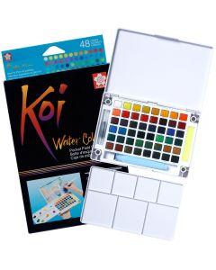 Sakura Koi Watercolours Pocket Field Sketch Box Set of 48 Colours