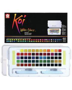 Sakura Koi Watercolours Pocket Field Sketch Box Set of 60 Colours