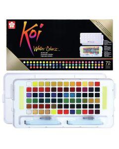 Sakura Koi Watercolours Pocket Field Sketch Box Set of 72 Colours