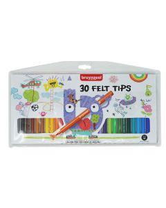 Bruynzeel Felt Tip Pens Wallet Set of 30 Colours