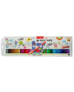Bruynzeel Felt Tip Pens Wallet Set of 50 Colours