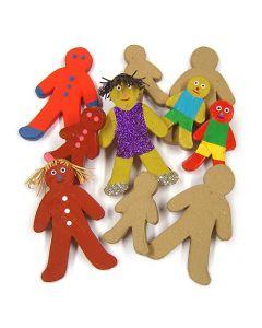 Major Brushes Paper Mache Gingerbread Men Set of 10