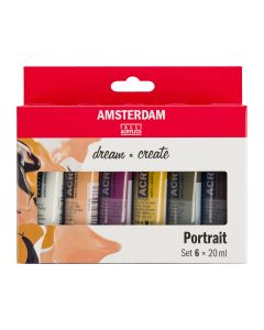 Amsterdam All Acrylics Portrait Set 6 x 20ml
