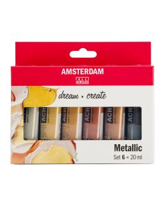 Amsterdam All Acrylics Metallic Set 6 x 20ml