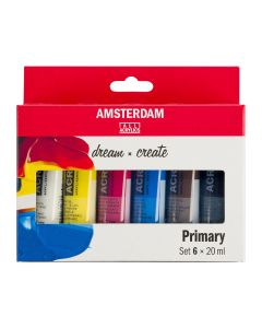 Amsterdam All Acrylics Primary Set 6 x 20ml