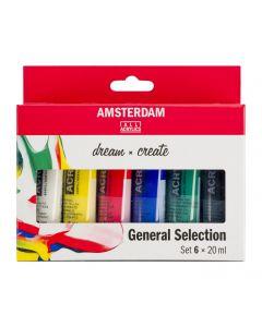 Amsterdam All Acrylics General Selection Set 6 x 20ml