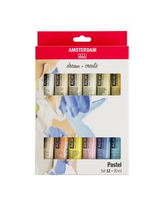 Amsterdam All Acrylics Pastel Set 12 x 20ml