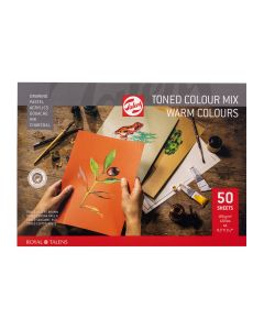 Talens Toned Colour Mix Paper 50 Sheets A4 (Warm Colours)