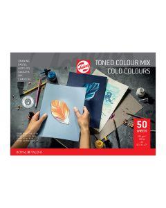 Talens Toned Colour Mix Paper 50 Sheets A4 (Cold Colours)