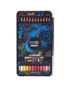 Uni POSCA Colour Pencil Box Set 36 Colours