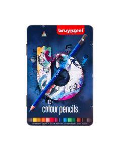 Bruynzeel 12 Colour Pencils Tin Set
