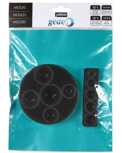 Pebeo Gedeo Silicone Half Sphere Mould Set of 2
