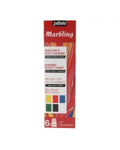 Pebeo Marbling Initiation Set  6 x 20ml