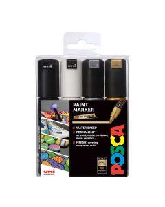 Uni POSCA Markers PC-5M Set of 4 Mono Colours