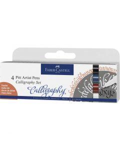 Faber-Castell 4 Pitt Artist Pens Calligraphy Classic Set