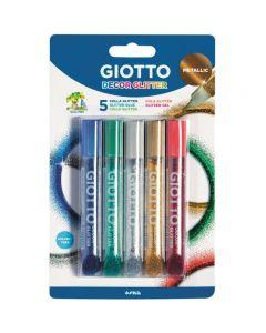 Giotto Deco Glitter Glue Metallic Set of 5 Colours