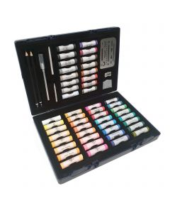 Set of 48 Soft Pastels with Accessories & Case