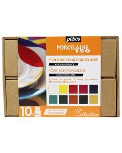 Pebeo Porcelaine 150 Collection Set 10 x 45ml & Accessories
